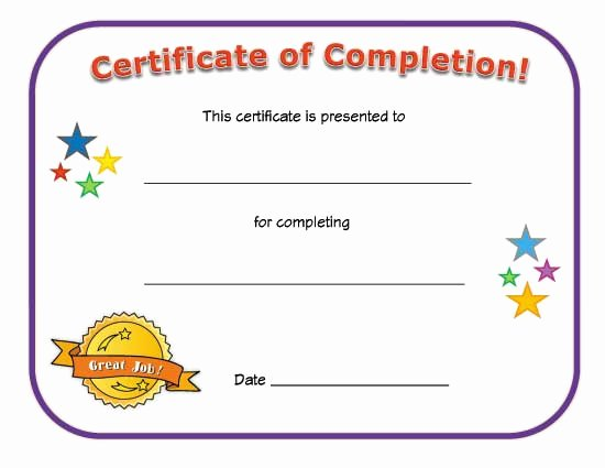 Certificate Of Completion Images New Certificate Of Pletion