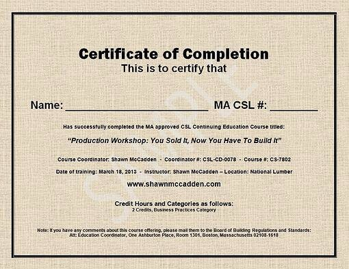 Certificate Of Completion Images Unique Sample Ma Csl Ceu Course Pletion Certificate