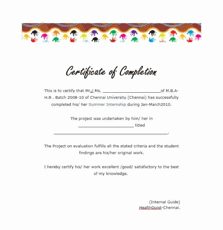 Certificate Of Completion Template Construction Awesome 25 Work Pletion Certificate Templates Word Excel Samples
