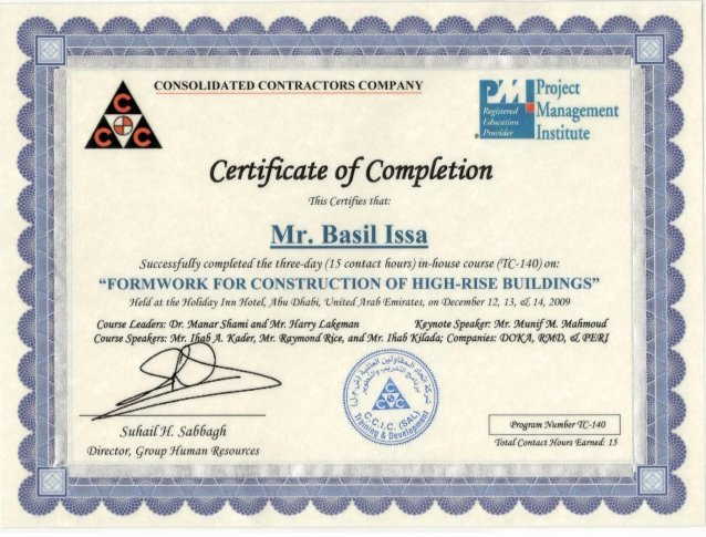 Certificate Of Completion Template Construction Unique Certificate Of Pletion formwork for Construction Of