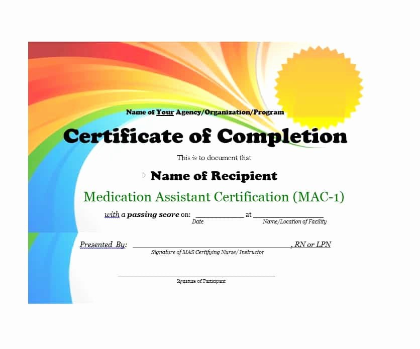 Certificate Of Completion Template Powerpoint Best Of 40 Fantastic Certificate Of Pletion Templates [word