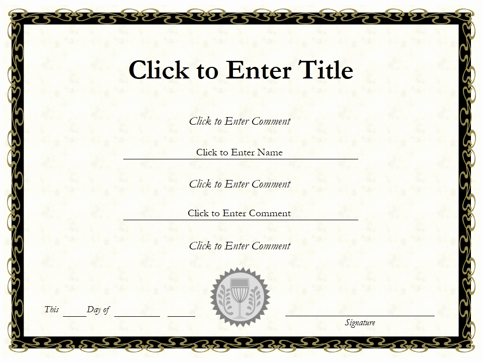 Certificate Of Completion Template Powerpoint Best Of How to Create Certificate Achievement Templates In
