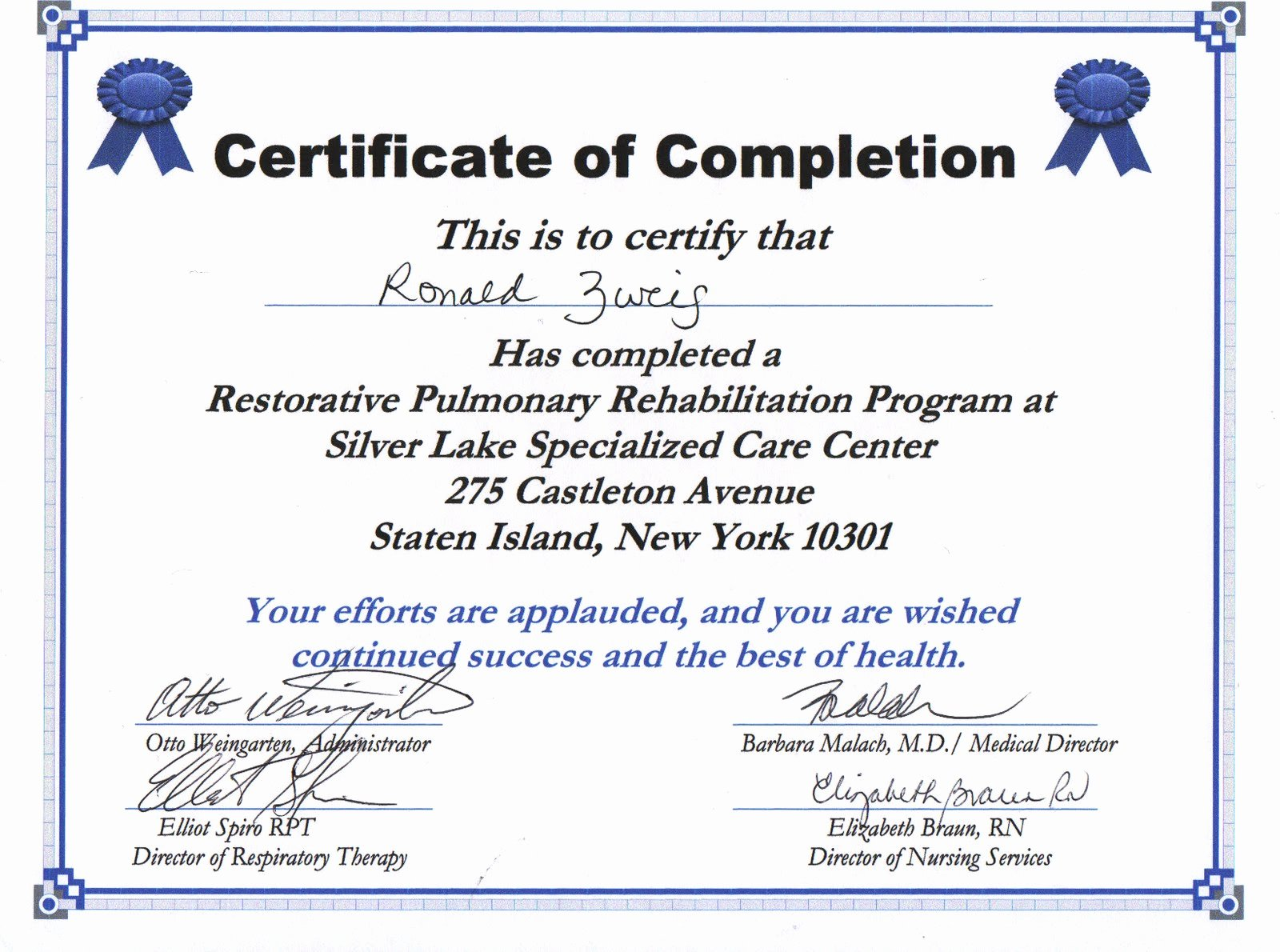 Certificate Of Completion Wording Awesome Air September 2010