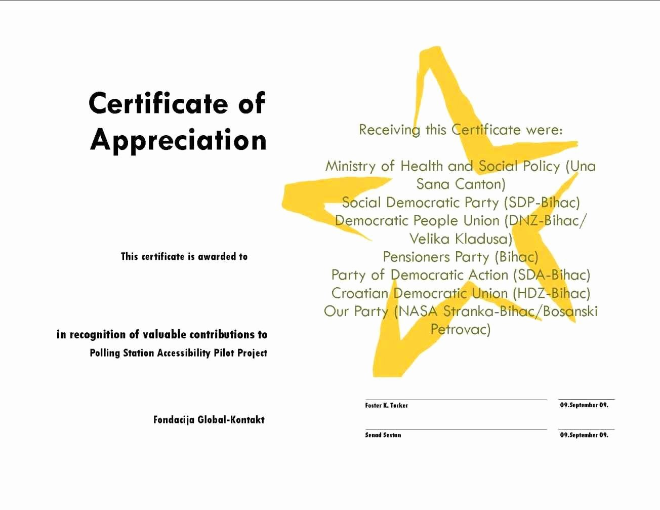 Certificate Of Completion Wording Beautiful Example Certificate Appreciation Wording Template