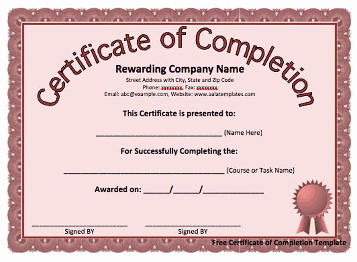 Certificate Of Completion Wording Elegant Custom Designed Certificates