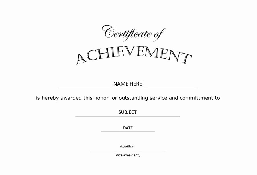 Certificate Of Completion Wording Inspirational Certificate Of Achievement Landscape Free Templates Clip