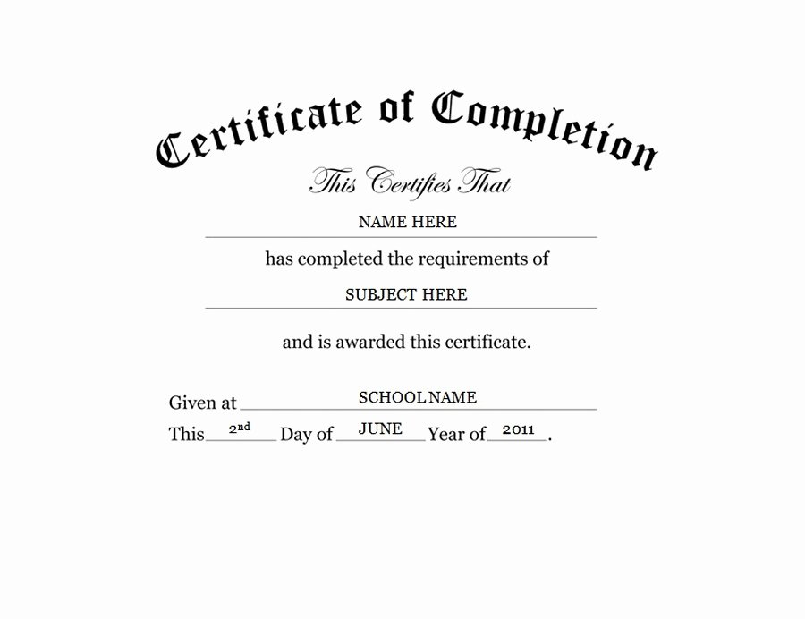 Certificate Of Completion Wording New Geographics Certificates