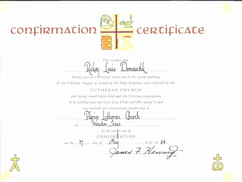 Certificate Of Confirmation Template Beautiful Catholic Confirmation Certificate Template