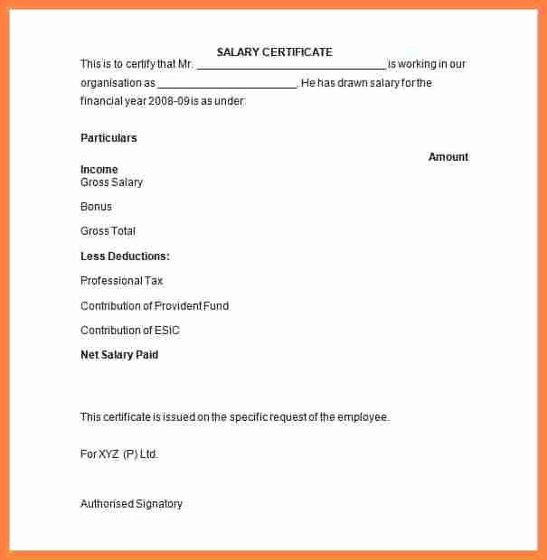 Certificate Of Confirmation Template Best Of 11 Sample Salary Confirmation Letter From Employer
