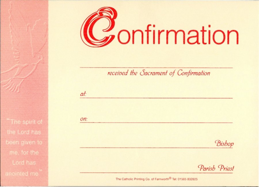 Certificate Of Confirmation Template Best Of Confirmation Presentation Certificate Pack Of 25