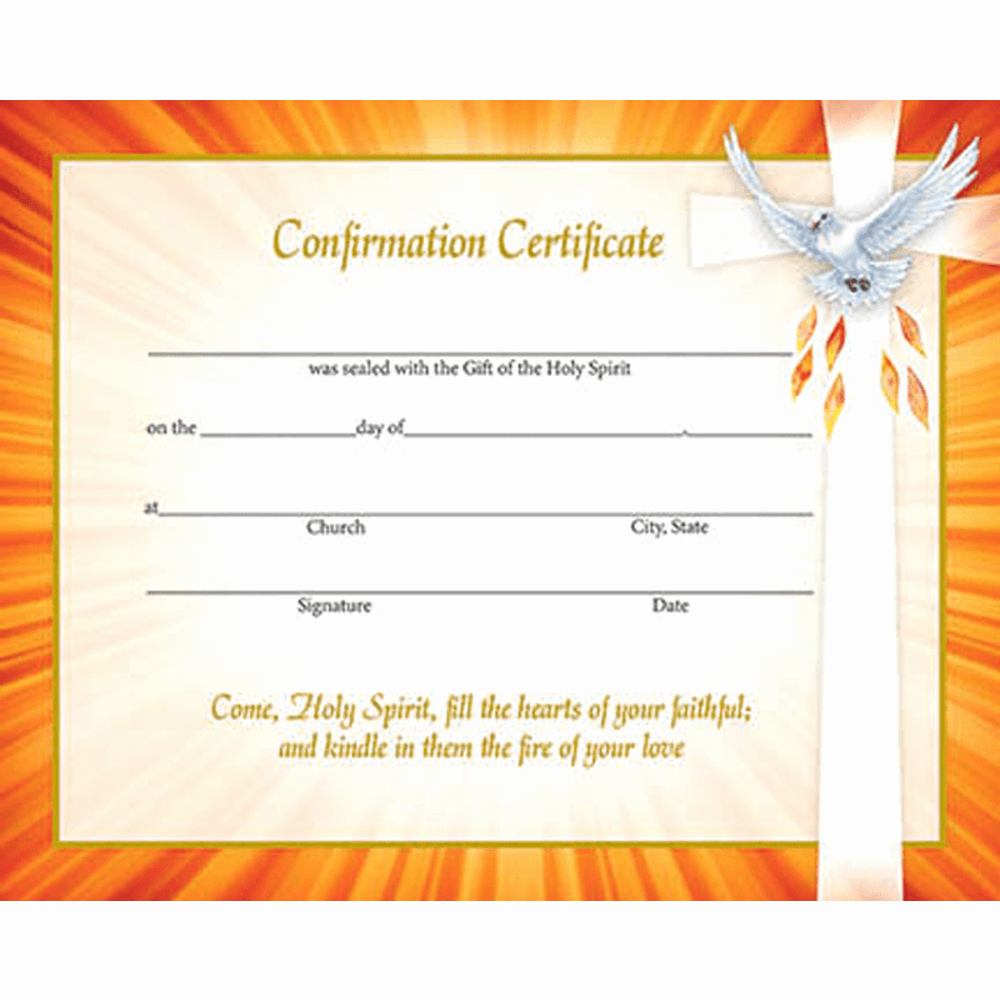 Certificate Of Confirmation Template Inspirational Inspirational Confirmation Certificates Box Of 50