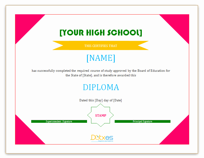 Certificate Of Confirmation Template Luxury Diploma Certificate Template High School Dotxes