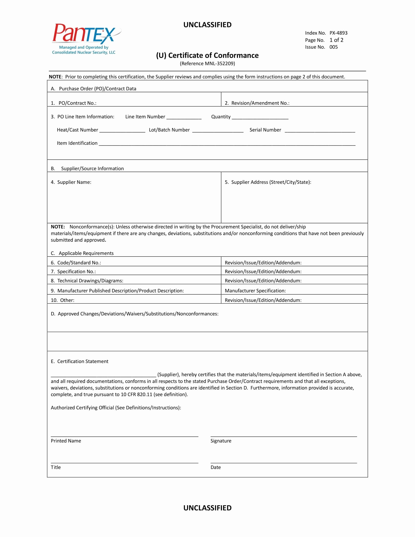 Certificate Of Conformance Template Pdf Awesome 16 Certificate Of Conformance Example Pdf Word Ai