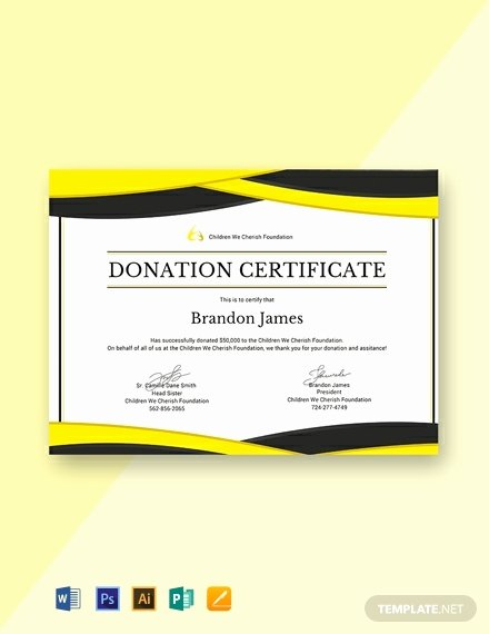 Certificate Of Donation Template Lovely Free Donation Certificate Template Word Psd