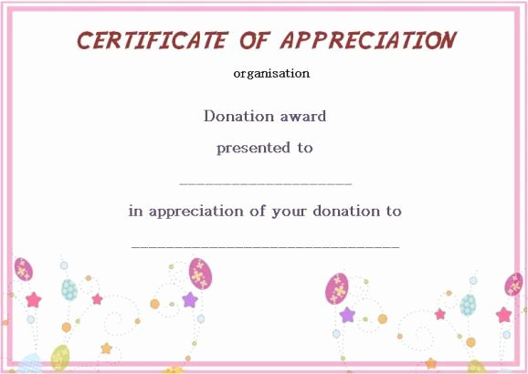 Certificate Of Donation Template Lovely Silent Auction Donation Certificate Template