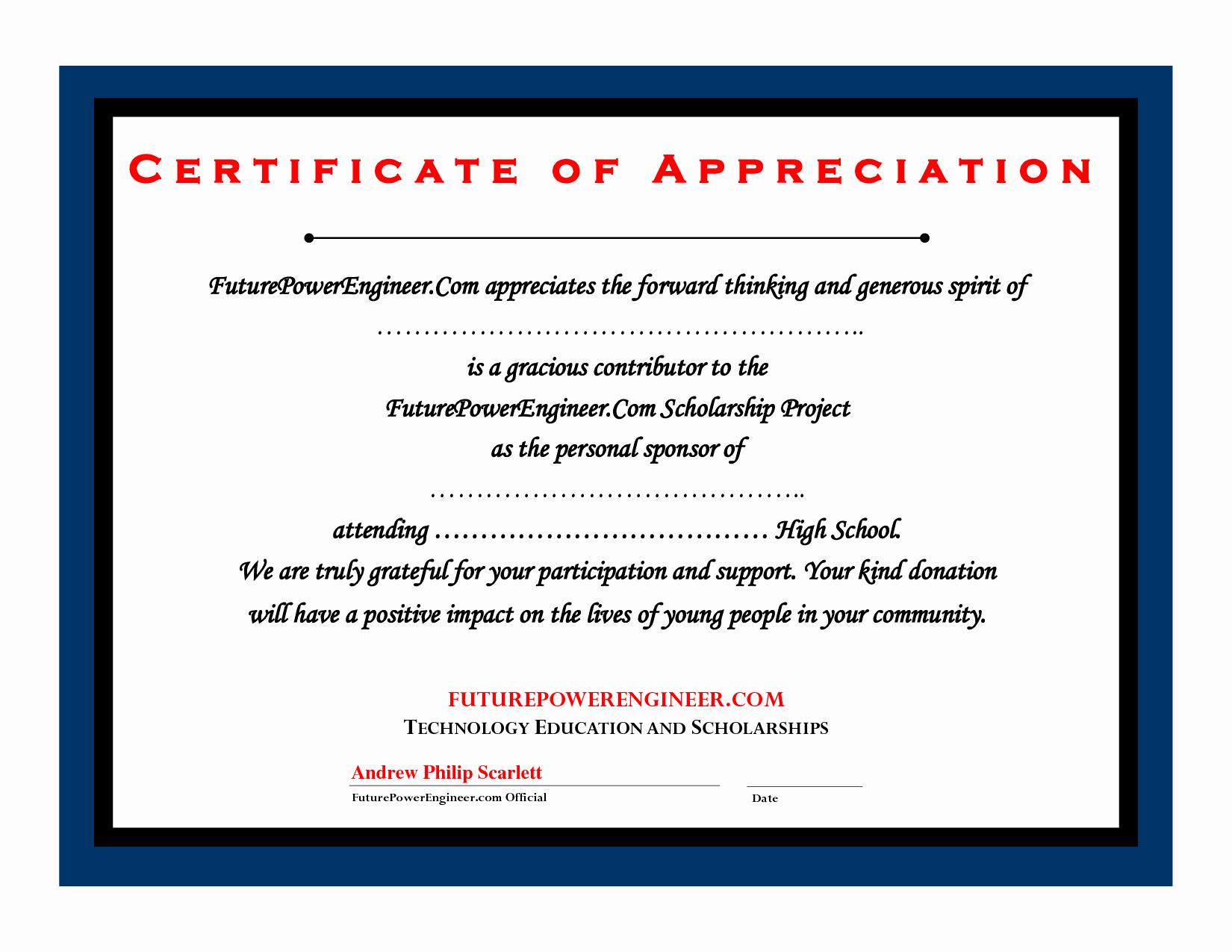 Certificate Of Donation Template Unique Templates Donation Certificate Template