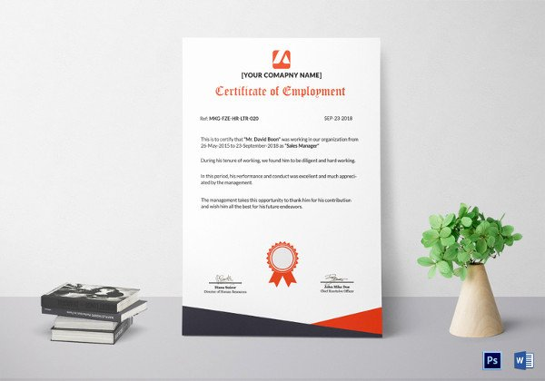 Certificate Of Employment Doc Unique 40 Employment Certificates Pdf Doc