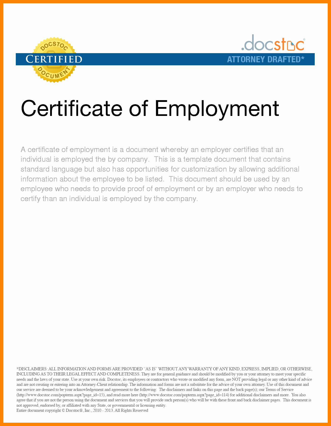 Certificate Of Employment Template New Clearance Certificate formats
