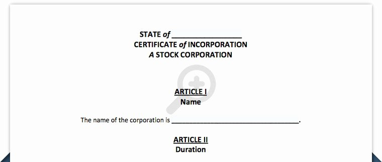 Certificate Of Incorporation Template Word Best Of Certificate Of Incorporation Delaware and Any State Template