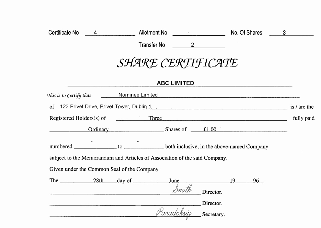 Certificate Of Incorporation Template Word Fresh Articles Incorporation Template