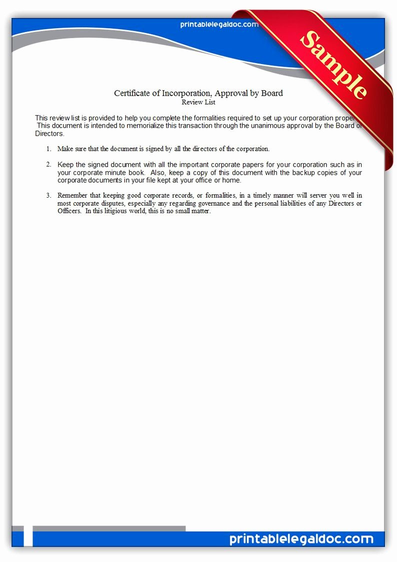 Certificate Of Incorporation Template Word Inspirational Free Printable Certificate Incorporation Board