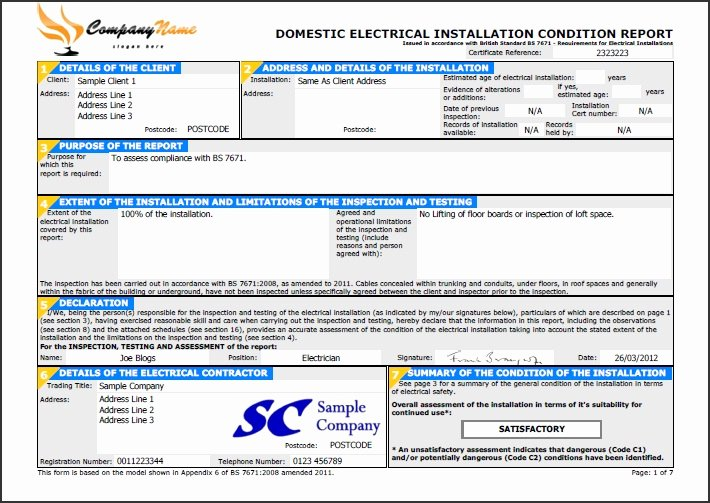 Certificate Of Inspection Template Best Of Easycert Electrical software Test & Inspection