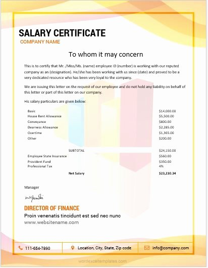 Certificate Of Insurance Request form Template Awesome 10 Best Salary Certificate Templates for Ms Word