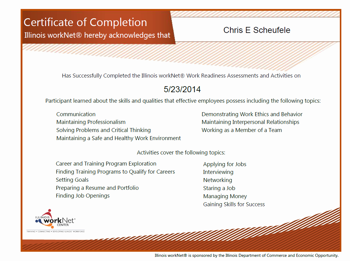 Certificate Of Job Completion Elegant Syep 2014 News & Updates