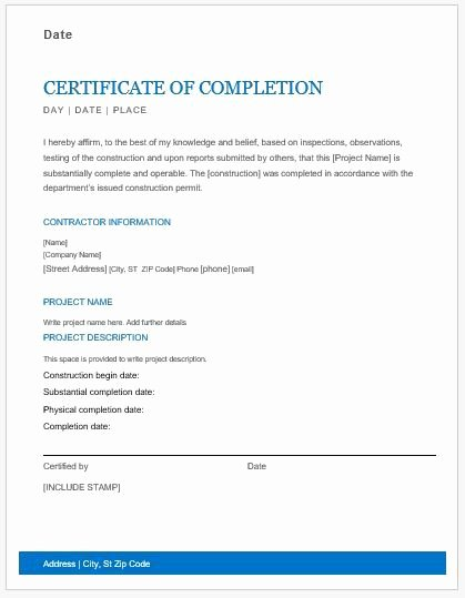 Certificate Of Job Completion Fresh Employment Certificate Samples