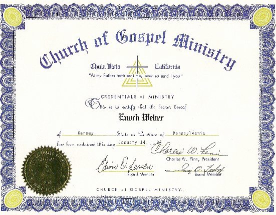 Certificate Of License for Minister Template Inspirational Dog Receives ordination