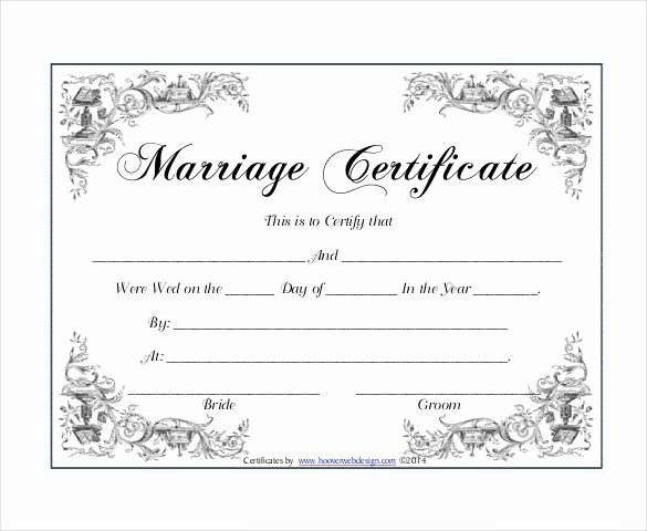 Certificate Of License for the Gospel Ministry Template Fresh 10 Marriage Certificate Templates