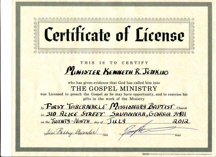 Certificate Of License for the Gospel Ministry Template Lovely Certificate Of License Black Preaching Network