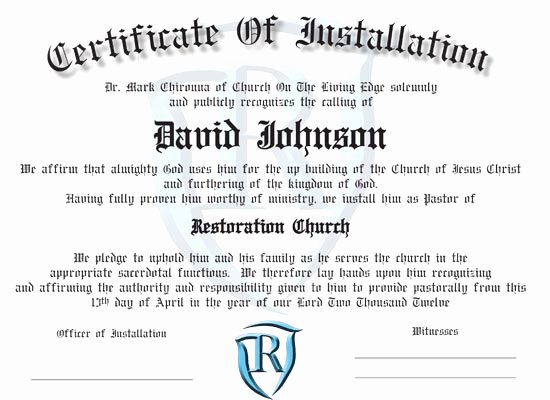 Certificate Of License for the Gospel Ministry Template New ordination Certificates for Your Church