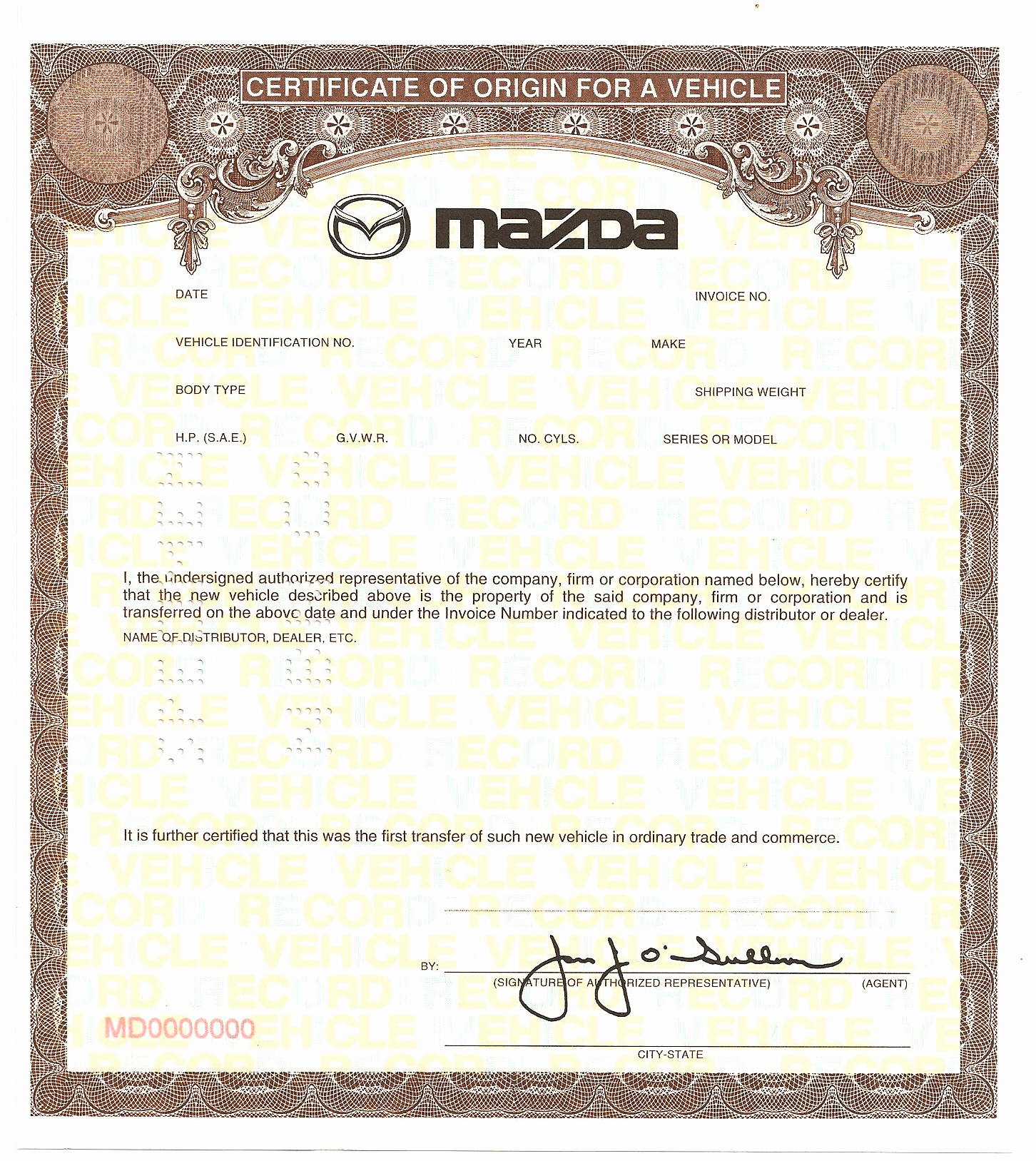 Certificate Of Manufacture Template Awesome Certificate origin Template