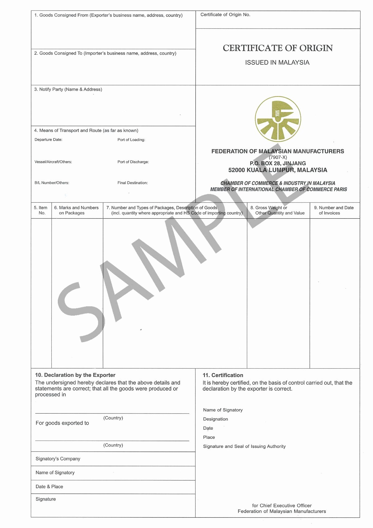 Certificate Of Manufacture Template Beautiful Certificate origin – Vamaship