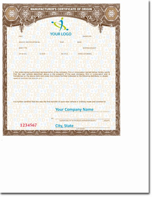 Certificate Of Manufacture Template Fresh Imprinted Mco S • Buy Manufacturer Certificate Of origin S