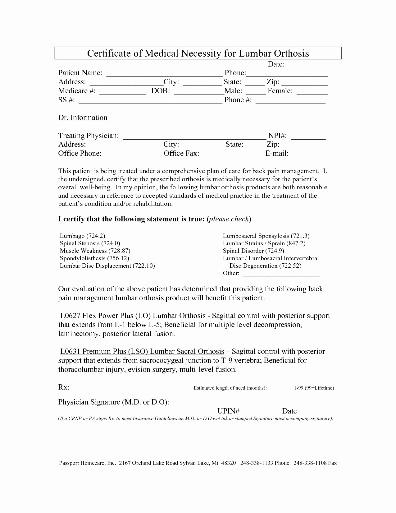 Certificate Of Medical Necessity form Template Lovely Best S Of Generic Certificate Medical Necessity
