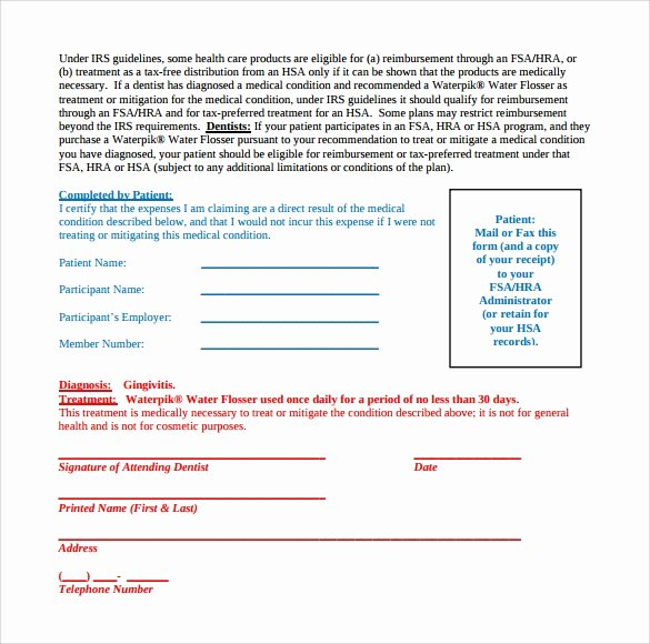 Certificate Of Medical Necessity form Template Lovely Sample Letter Of Medical Necessity form 12 Download