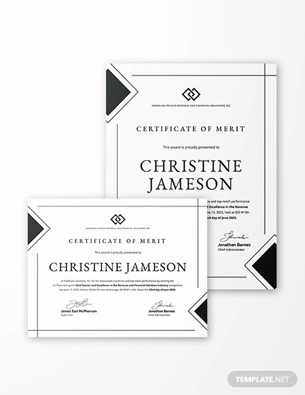 Certificate Of Merit Sample Elegant 64 Printable Certificate Templates Psd Ai Vector Eps