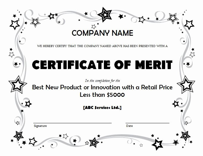 Certificate Of Merit Sample Fresh Get Merit Certificate Template Sample Pdf – Microsoft