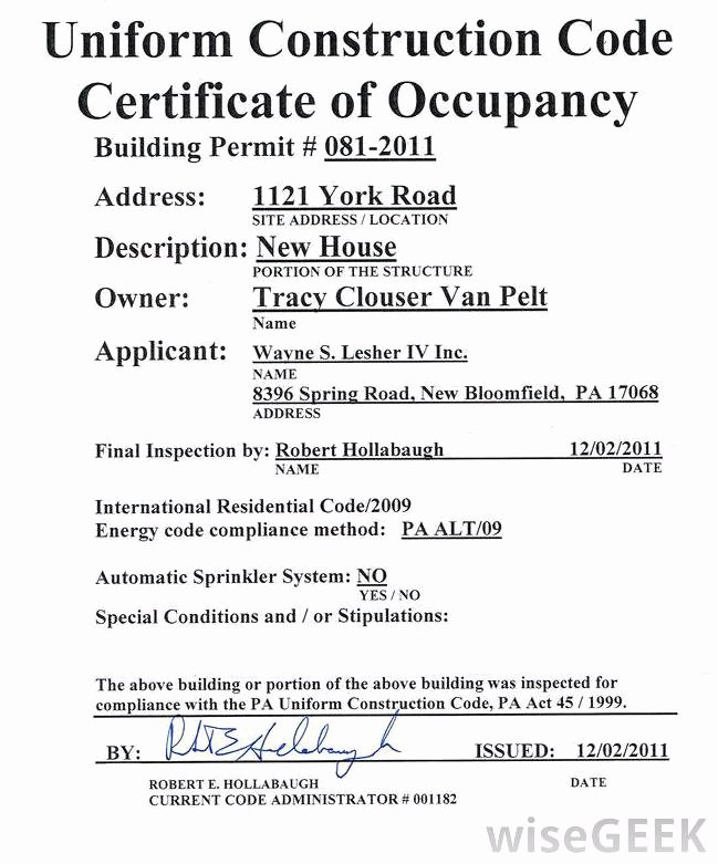 Certificate Of Occupancy Template Awesome What is An Occupancy Permit with Pictures