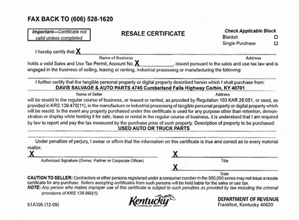 Certificate Of Occupancy Template Best Of Credit Card forms Davis Salvage & Auto Parts