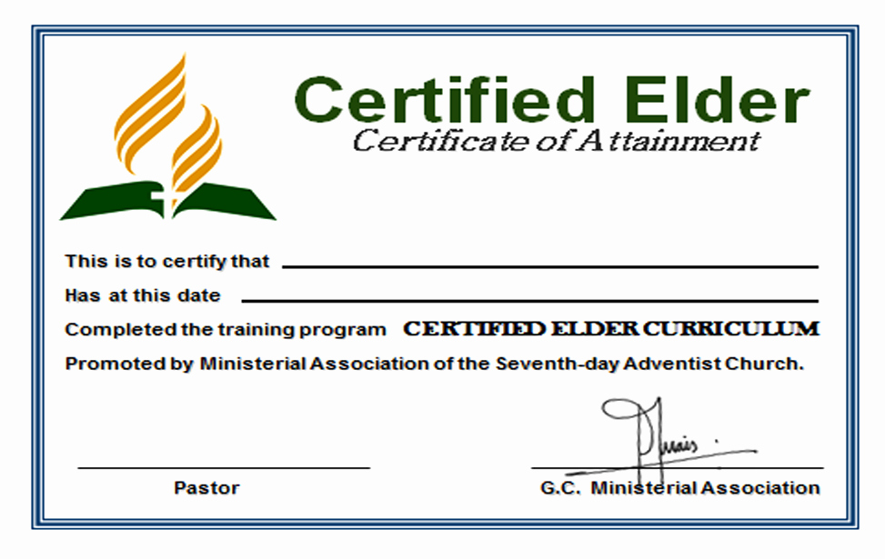 Certificate Of ordination Template Best Of Elder S Digest