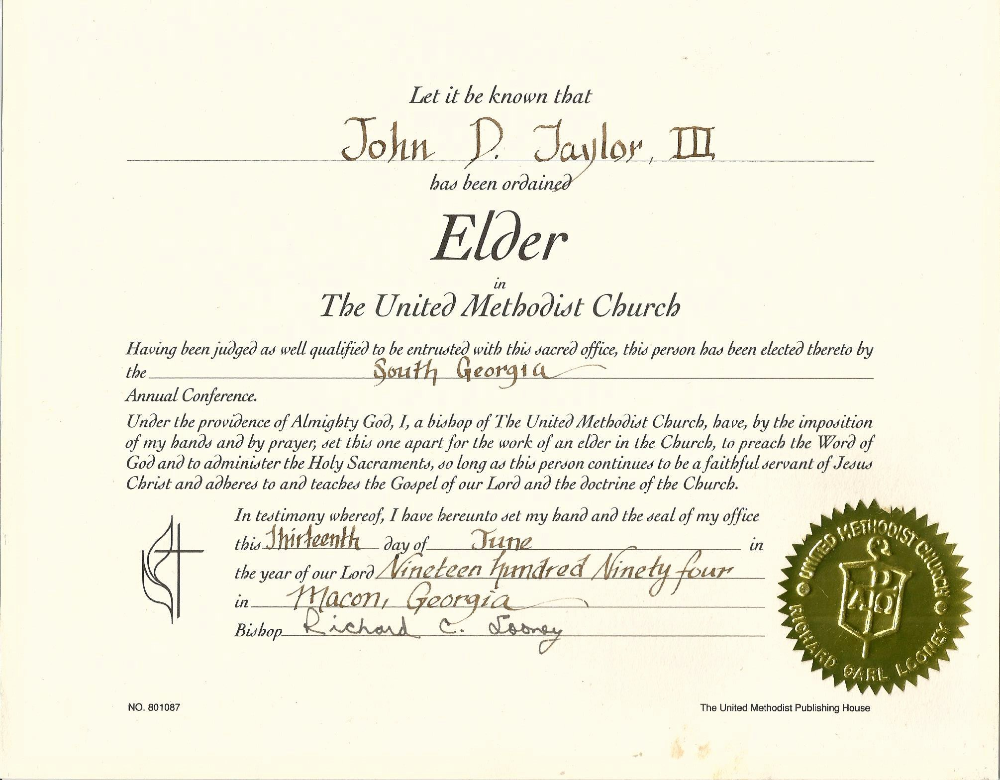 Certificate Of ordination Template Elegant Elder Certificate