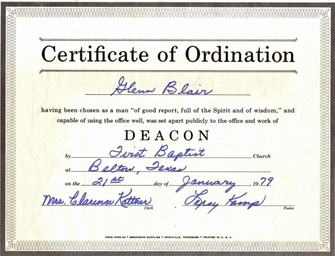 Certificate Of ordination Template Fresh Bishop ordination Certificate Template