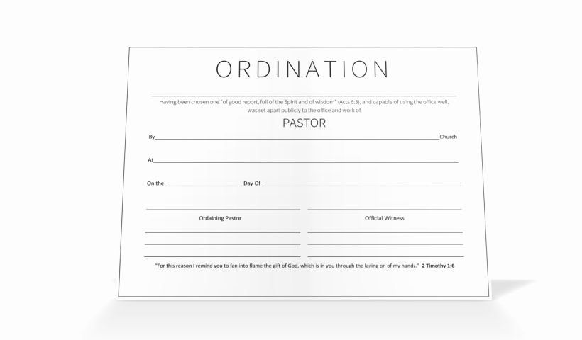Certificate Of ordination Template Inspirational Pastor ordination Certificate Vineyard Digital Membership