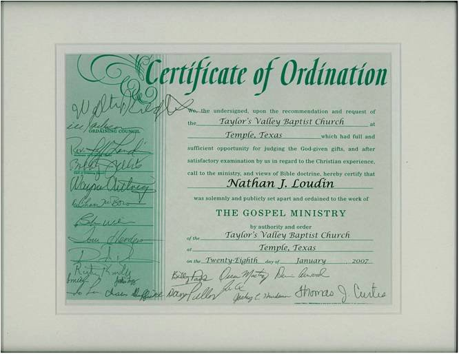 Certificate Of ordination Template New ordination Certificate for Deacon