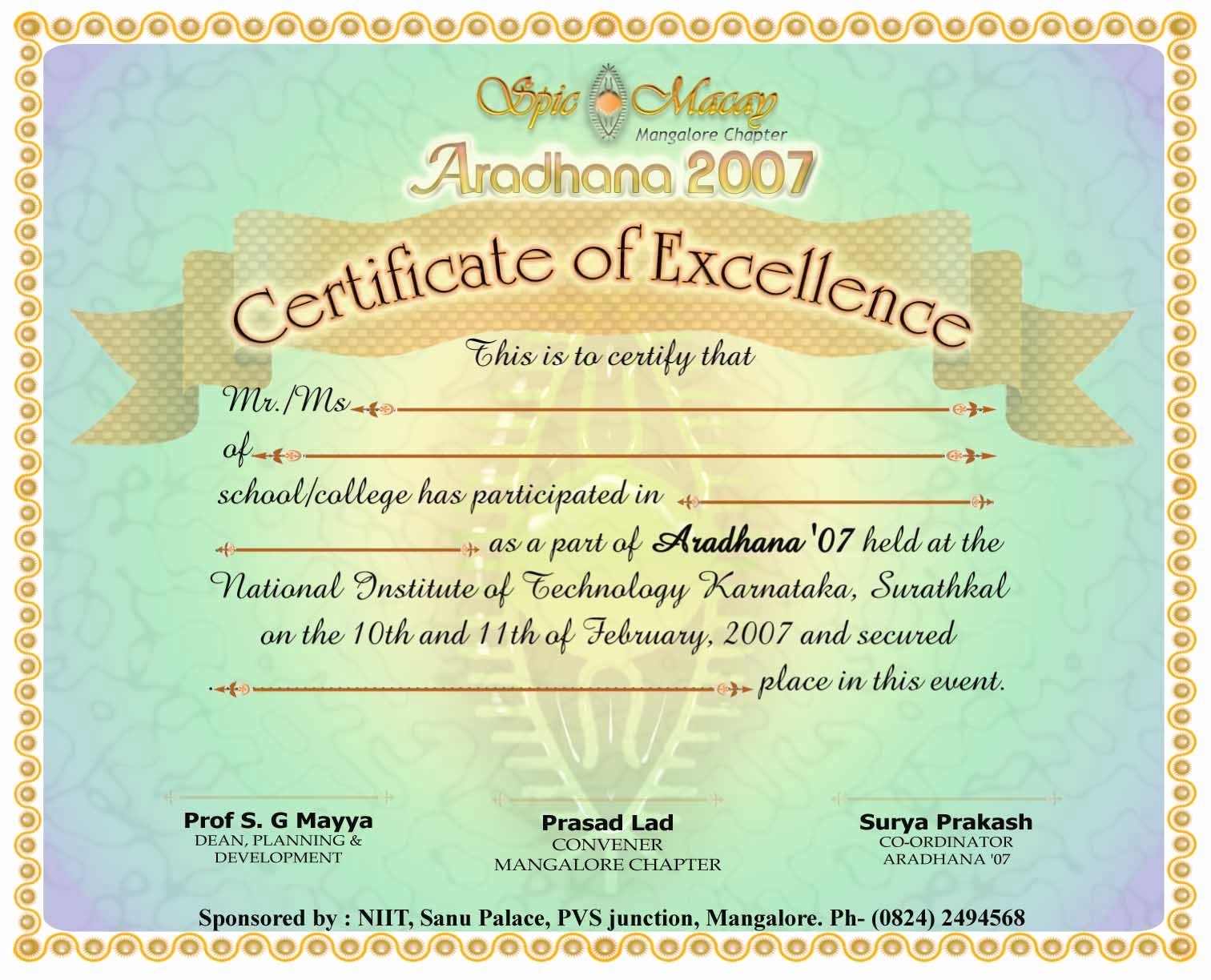 Certificate Of Participation Design Elegant Certificate Participation Design