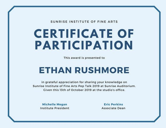 Certificate Of Participation Design Fresh Customize 89 Appreciation Certificate Templates Online