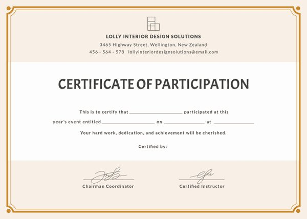 Certificate Of Participation Design Lovely 58 Printable Certificate Templates Free Psd Ai Vector